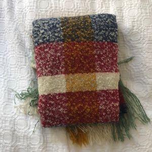 Zara check blanket scarf